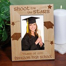 Shoot For The Stars Engraved Graduation Frames