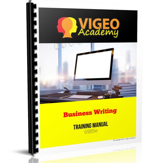 Business Writing Training Manual 6985e Course Materials - training manual