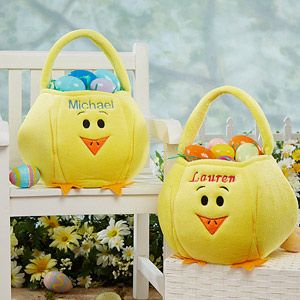 These Easter Chick Embroidered Baskets are sooo cute! They even have a cute little feather tail in the back! LOVE THESE! They're usually $24.95 but right now they're on sale for $18.70! #Easter #Chick #EasterBasket: Chick Easterbasket, Baby Kids, Easter Baskets, Baskets Easter, Easter 2015, Discounted Gifts, Baskets Bags, 70 Easter, Embroidered Baskets