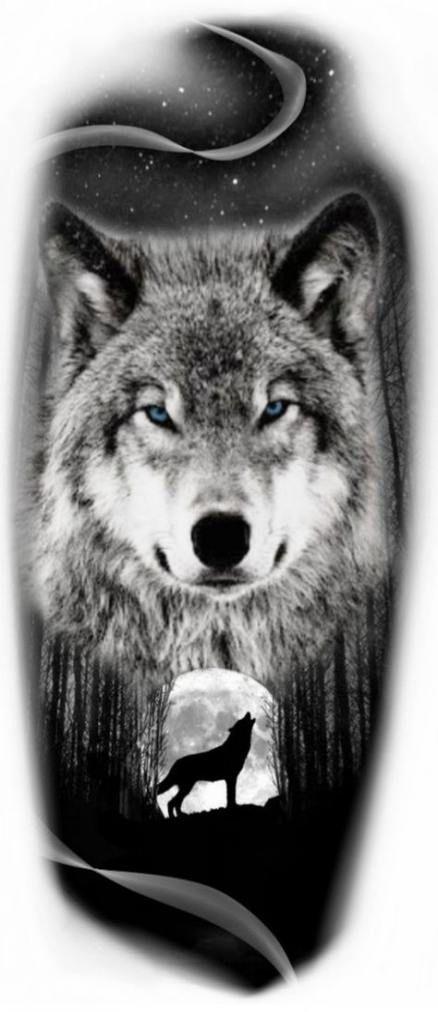 New Tattoo Wolf Moon Ideas Wolf Tattoos Wolf Tattoo Sleeve Wolf And Moon Tattoo