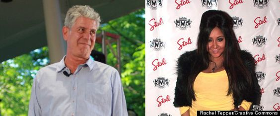 (VIDEO) #Celebrity #Chef Anthony Bourdain Reads Aloud From Snooki's #Book, 'A Shore Thing'