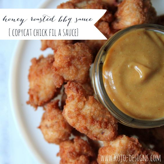 make your own honey roasted barbeque sauce (aka chick fil a sauce)! An easy Chick fil a copy cat!