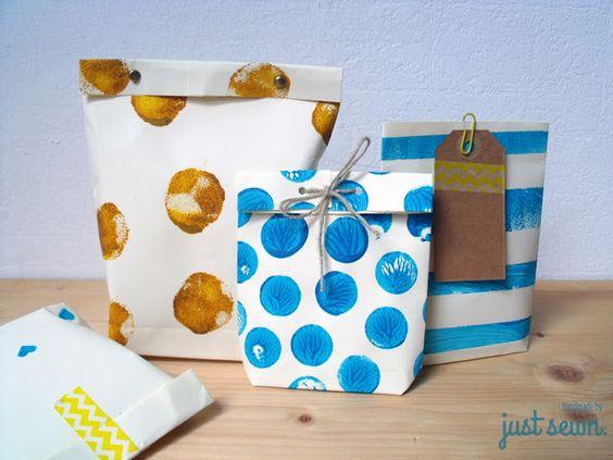 DIY: Geschenktüten aus Papier falten