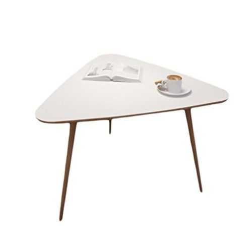 The Estelle Triangle Coffee Table Is Made Completely Of Solid