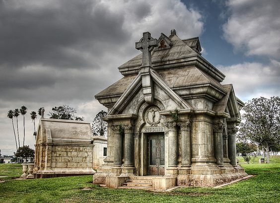 How can I find out information about an old mosoleum in a local cemetery?