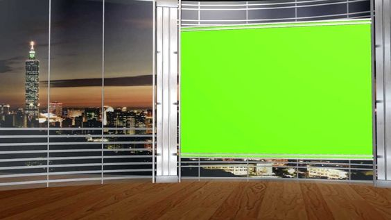 Free Hd Virtual Studio Set With Green Screen Tv 5 Different Angles Virtual Studio Greenscreen Green Screen Video Backgrounds