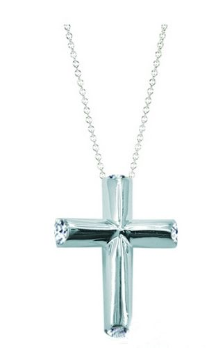 Tiffany Necklaces Jewelry Silver Thick Cross Necklace This Tiffany Jewelry Product Features: Category:Tiffany & Co Necklaces Material: Sterling Silver Manufacturer: Tiffany And Co