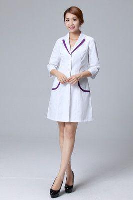 medical uniforms Hospital Lab Coat Korea Style Women Hospital ...