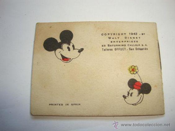 ANTIGUa historieta españa de mickey mouse y miney de walt disney año 1942 by saturnino calleja L200
