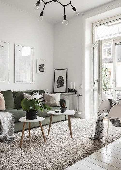 Modern Open Space With An Incredible Grey Kitchen And A Cozy Living Room In 2020 Living Room Decor Modern Living Room Scandinavian Living Room Diy
