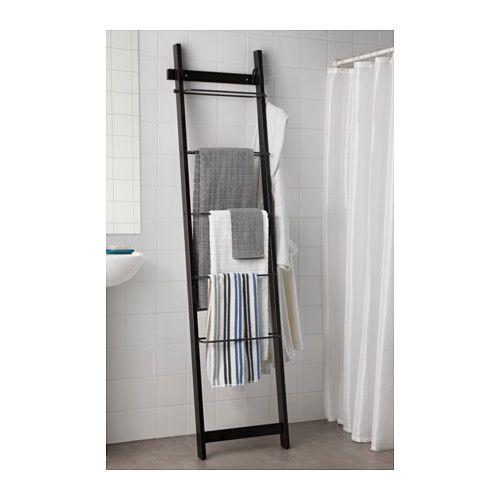 Hj lmaren towel holder black brown black brown 74 3 4 for Ikea towel stand
