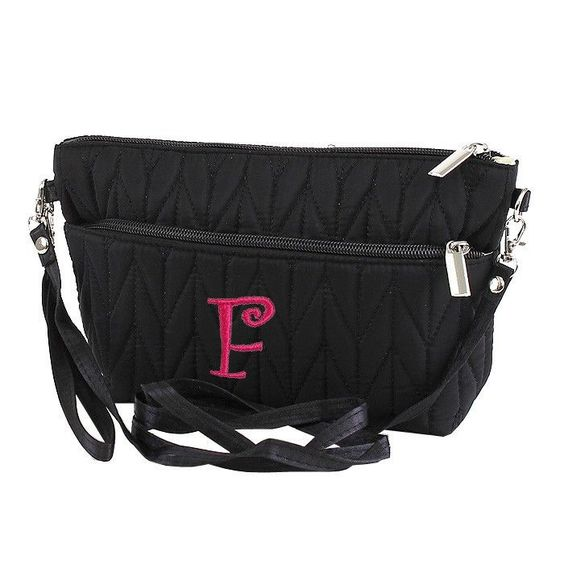 Black Quilted Clutch/Crossbody Purse
