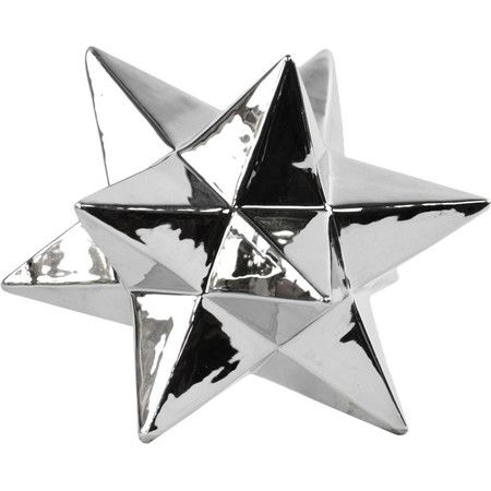 Icosahedron Sculpture in Polished Chrome Silver  at Joss and Main