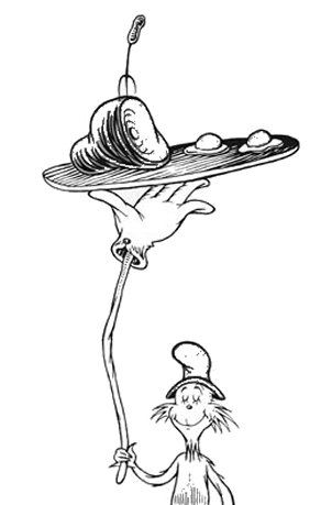 Dr Seuss Coloring Pages Green Eggs And Ham
