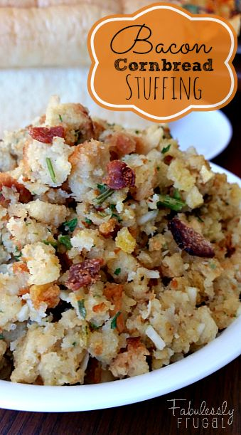 Bacon cornbread, Cornbread stuffing and Stuffing recipes on Pinterest
