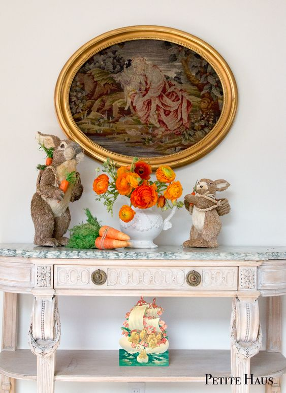 French country Easter decor