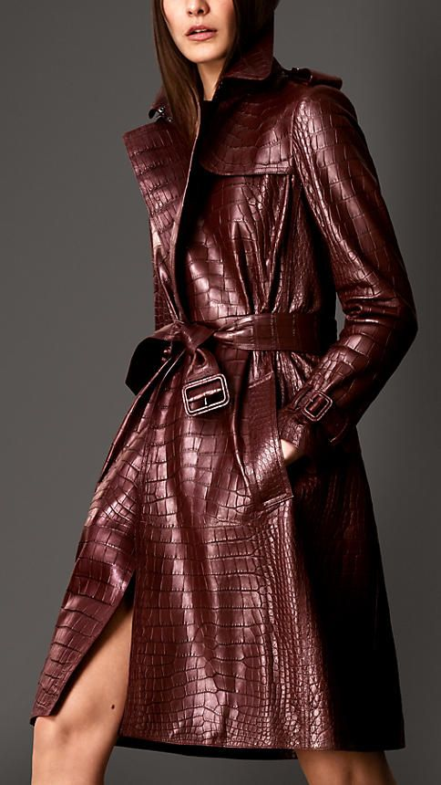 Alligator Wrap Trench Coat | Burberry              only $120,000.