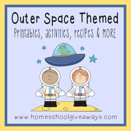 Free space themed printables and activities solar system for Outer space theme