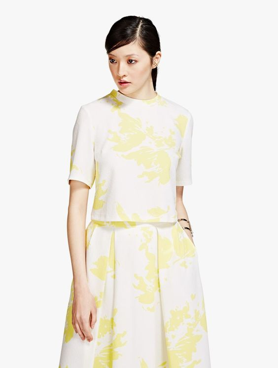 Marks & Spencer: Limited Edition Turtle Neck Painted Floral #Women #Top