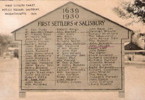 First Settlers of Salisbury, MA - includes 2 ancestors: Clough and Hoyt