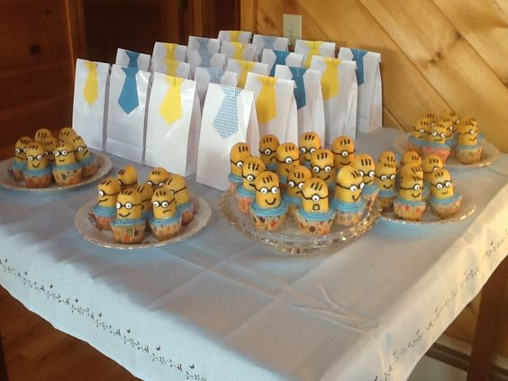 Army of minions at my baby shower!