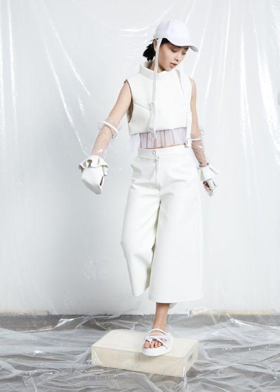 Weiße Hose  White Damen Hosen  weites von IngaSkripka auf Etsy
