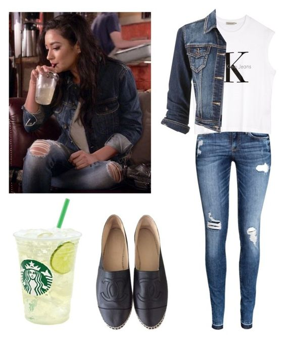 """Emily Fields 6x11 - pll / pretty little liars"" by shadyannon ❤ liked on Polyvore featuring H&M, Calvin Klein, maurices and Chanel"