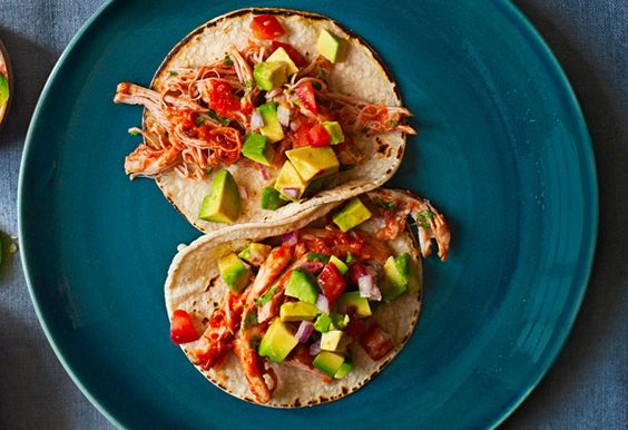 Tomato-Braised Chicken Tacos