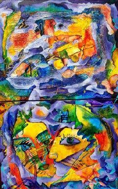 Original Mixed Media and Fiber Painting Memory by elenadiadenko, $9000.00