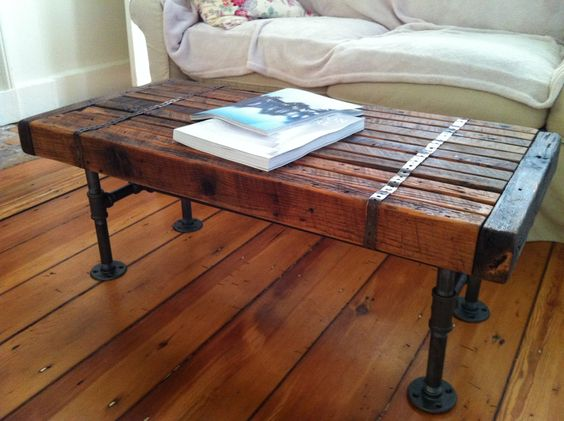 Barnwood coffee table coffee tables and coffee on pinterest for Coffee tables 4x4