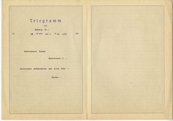 German Reichspost telegram with mountain scene used 4-18-1940.