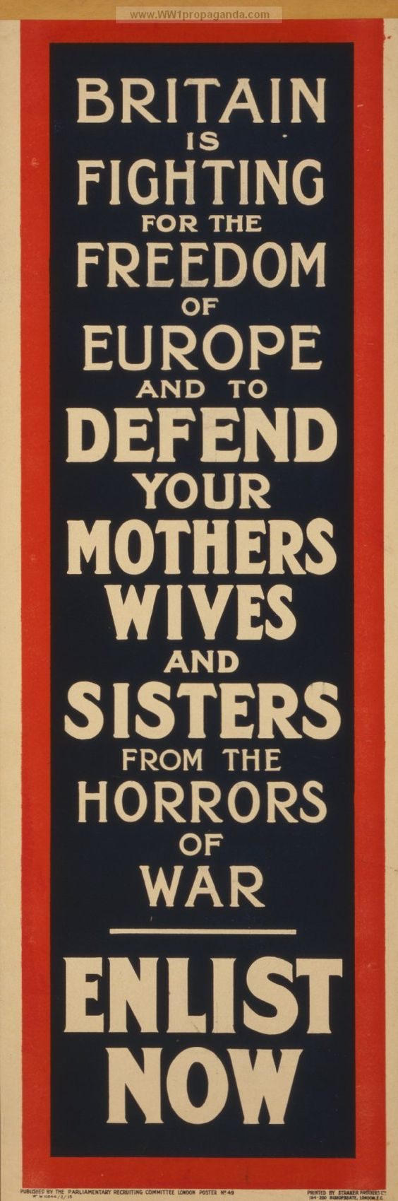 Examples of Propaganda from WW1 | British WW1 Propaganda Posters Page 100