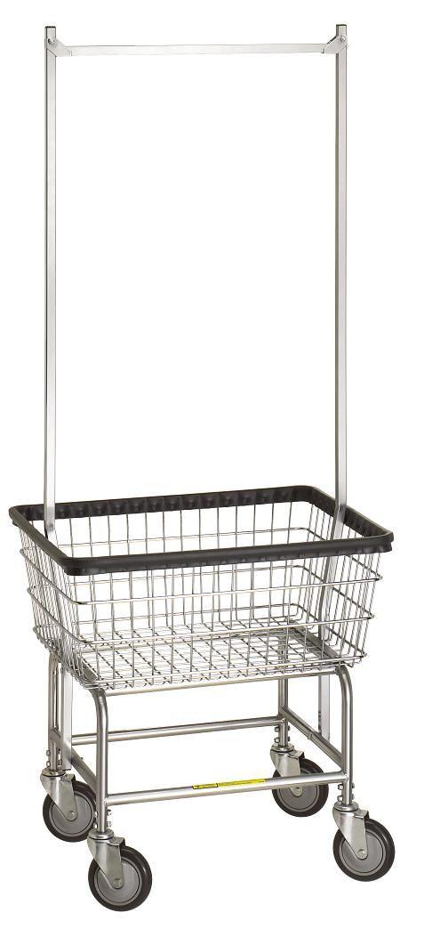 Standard Laundry Cart w/ Double Pole Rack