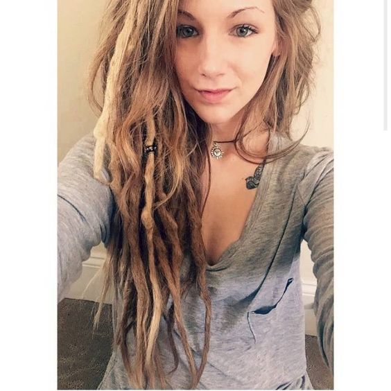 blonde dreads with loose hair