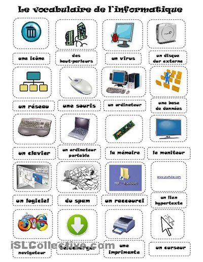 Le vocabulaire de l'informatique