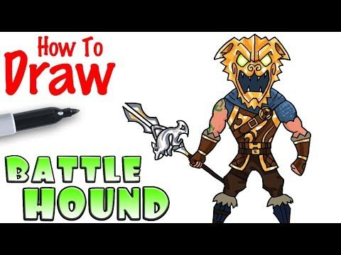 How To Draw The Battle Hound Fortnite Youtube With Images