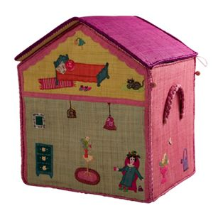 Toy Box Storage 'Girls' House - Large - Rice Dk - Rice - Sisters Guild