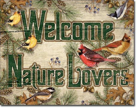 Nature Lovers Tin Sign - American Expedition