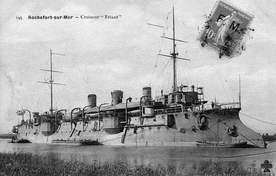Protected cruiser of the Marine Nationale FRIANT.