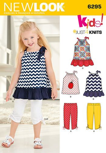 Toddlers' Knit Capri Leggings and Dress, Tunic and Top