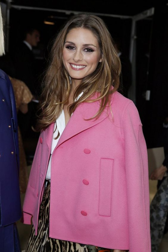 Olivia Palermo pink coat dressing daily pale pink pink or flashy