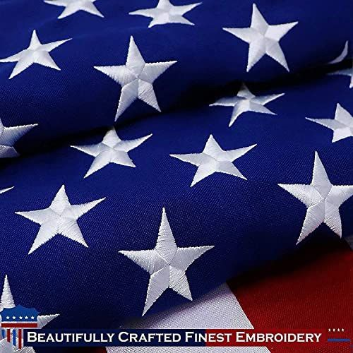 Enjoy Exclusive For G128 American Flag 10x15 Feet Heavy Duty Spun Polyester 220gsm Embroidered Stars Sewn Stripes Tough Durable Indoor Outdoor Vibr In 2020 Vibrant Colors American Flag Usa Flag