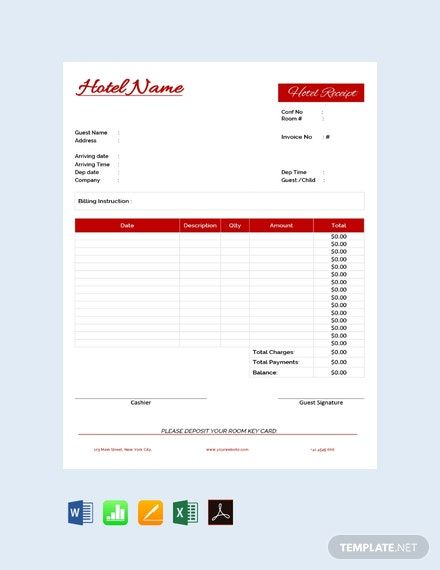 Instantly Download Free Hotel Receipt Template Sample Example In Pdf Microsoft Word Doc Mic In 2020 Receipt Template Invoice Template Word Free Receipt Template