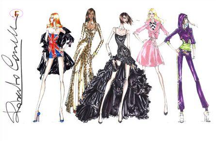 Tour Costumes on paper: Spice Girls - Roberto Cavalli
