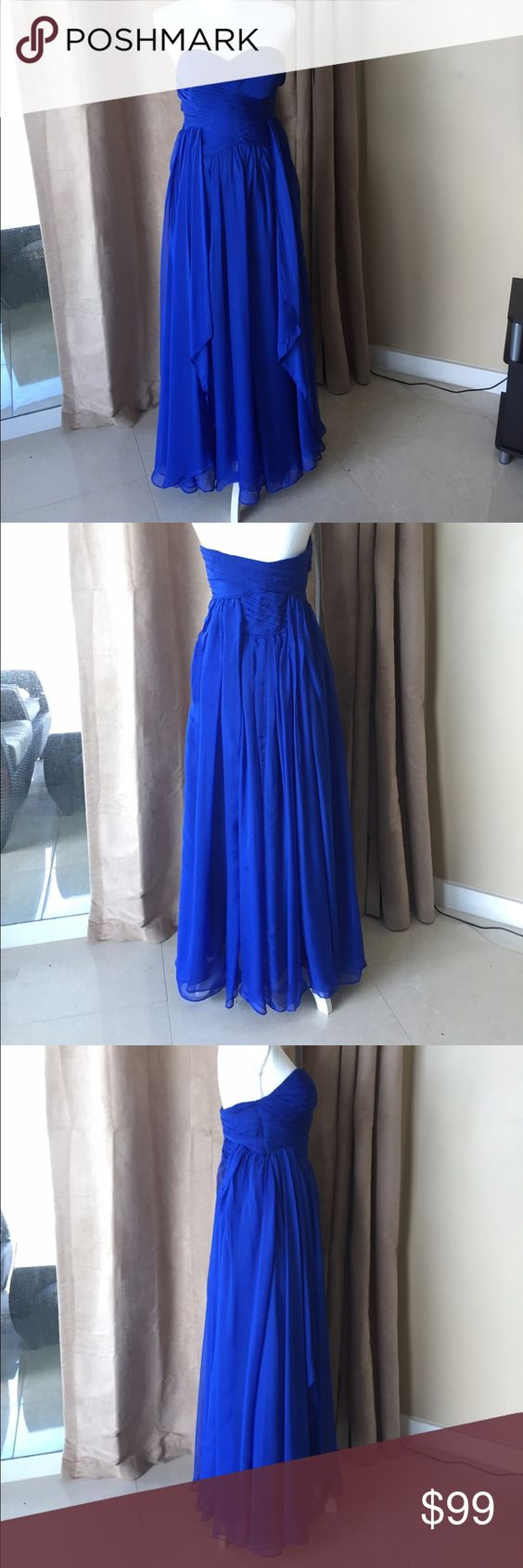Royal blue prom dress size small