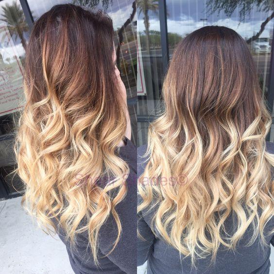 Light blonde balayage hair medium chocolate brown hair for Balayage braun blond