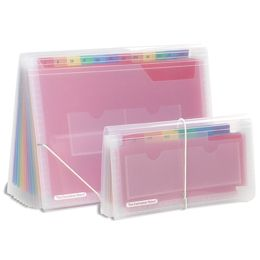 Clear 13-Pocket Accordion Files -- COLORS.  But two rainbows in each packet?  I'd much prefer one rainbow with more colors.  I don't think it's really designed for storing colored paper, though.