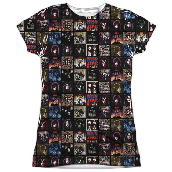 Kiss: Album Covers Sublimated Junior T-Shirt