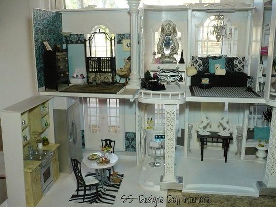 Ss Designs Doll Interiors Barbie Dollhouse Left Fullview