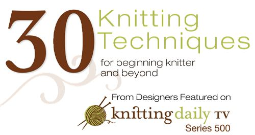 30 Techniques for Beginning Knitter and Beyond from Designers on Knitting Daily TV Series 500 - Knitting Daily